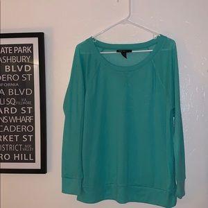 Style & co mesh sweatshirt. Large. Bright green